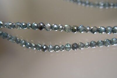 """71.53 Ct Green Loose Moissanite Synthetic Diamonds 3.7 mm Beads 9"""" Necklace"""
