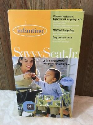 Infantino Savvy Seat Jr. Cart/High Chair Cover 2in1 Microban Protected Unisex#C2