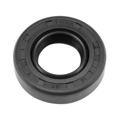 Oil Seal, TC 14mm x 27mm x 7mm, Nitrile Rubber Cover Double Lip