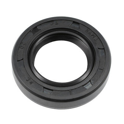 Oil Seal, TC 20mm x 34mm x 7mm, Nitrile Rubber Cover Double Lip