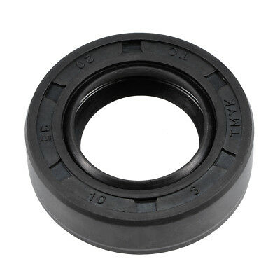 Oil Seal, TC 20mm x 35mm x 10mm, Nitrile Rubber Cover Double Lip
