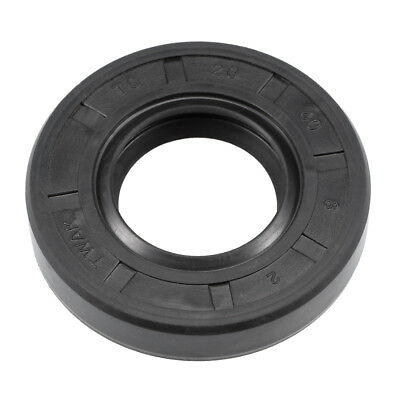 Oil Seal, TC 20mm x 40mm x 8mm, Nitrile Rubber Cover Double Lip