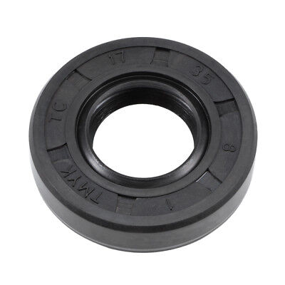 Oil Seal, TC 17mm x 35mm x 8mm, Nitrile Rubber Cover Double Lip