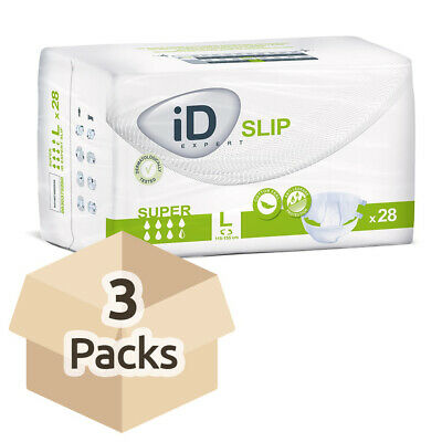 iD Expert Incontinence Slip Super - Large (Cotton Feel) - Case - 3 Packs of 28