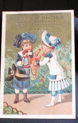 Vtg Trade Card - Corry, Pa - H. E. Heineman - Boots & Shoes
