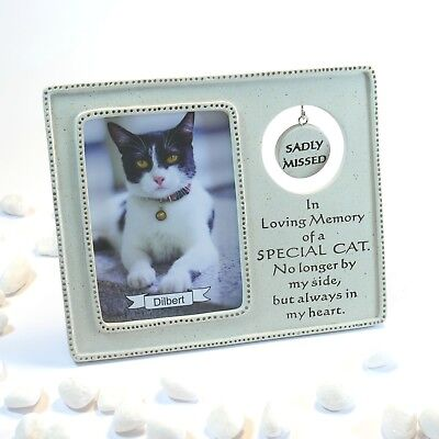 Sadly Missed Cat Resin Memorial Photo Frame