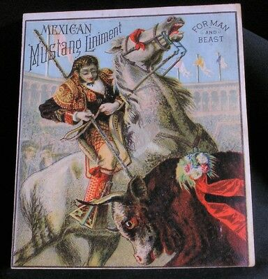 Vtg Trade Card - Corry, Pa - Mexican Mustang Liniment - G. Blair & Son
