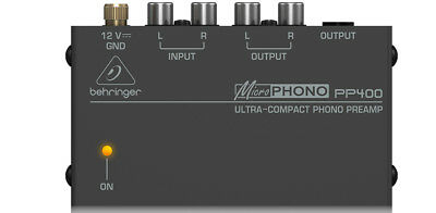 Behringer Microphono PP400 Phono Preamp SAVE $10.99 off RRP$54.99