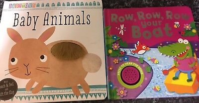 Baby/toddler Books. Lift The Flap And Touch And Sound Book