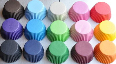 High Quality Greaseproof Baking Muffin/ Cupcake Cases Various Vibrant Colours