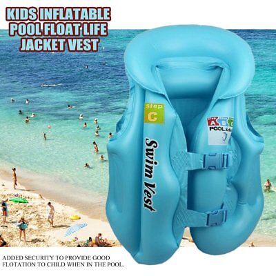 e78e7770e85 Children Inflatable Pool Float Life Jacket Vest Baby Swimming Safety Vests  XP