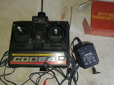 Spitfire Remote Control And Charger. Code 4 Radio Control, deagostini