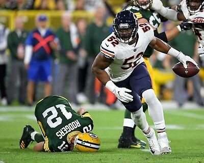 Khalil Mack & Aaron Rodgers 8X10 Photo Chicago Bears Packers Picture Nfl