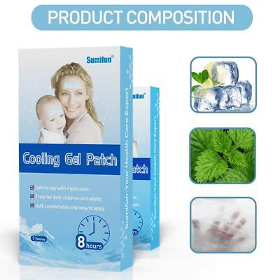 New 7pcs Baby Fever Patch Cooling Gel Sheet for Headache Pain Relief shza