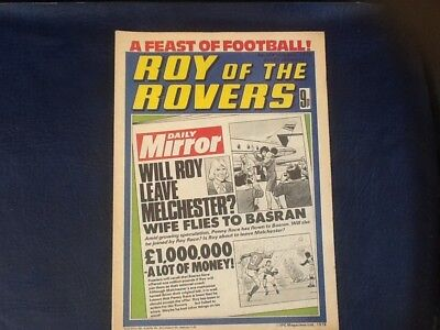 ROY OF THE ROVERS COMIC 19th SEPTEMBER 1978.