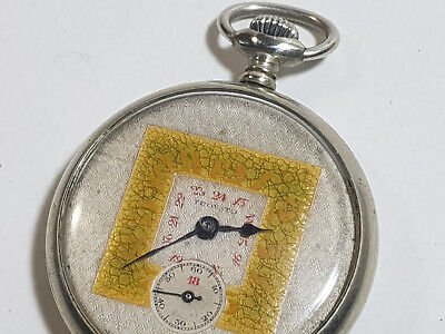 Old Antique Pocket Watch Square Rare Square Art Deco