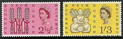 Sg634-635 1963 Freedom From Hunger ~ Unmounted Mint