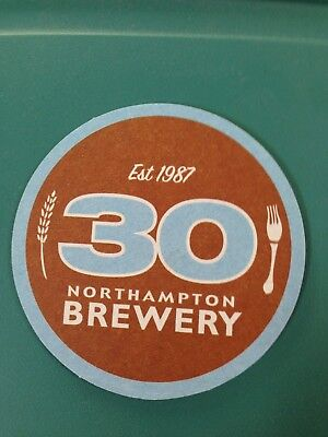 Northhampton Brewery Beer Coaster  Mint Cond. 30 Year Anniversary Peace Love