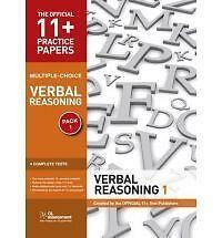 11+ Practice Papers, Verbal Reasoning Pack 1, Multiple Choice: Test 1, Test...
