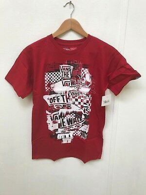c186767cfce09d Vans Men's Off the Wall Checker Blaster T-Shirt - Various Sizes - Red -