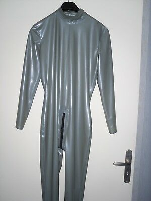 rubber latex catsuit neck entry