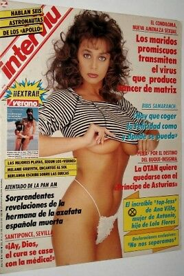 INTERVIU 689 MARIA WHITTAKER covergirl - MELANIE GRIFFITH  ROLLING STONES Poster