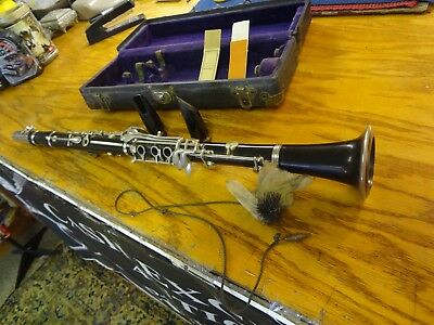 Vintage Clarinet w/ Two Mouthpieces &Terry Lock Co. Case--USA??--LOOK
