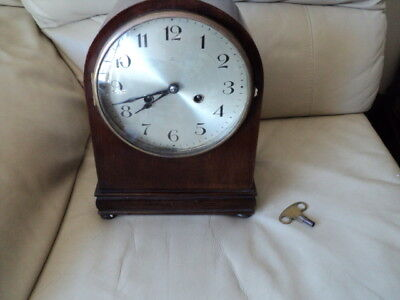 Antique HAC German Chiming Mantel Clock With a Key is working
