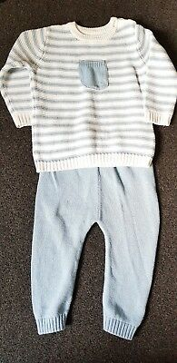 Baby Boy Knitted Outfit M&S 9-12 Months