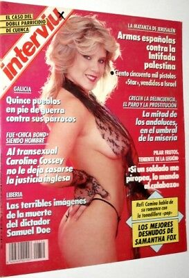 INTERVIU 754 / SAMANTHA FOX 7 Pages Great Pictorial !!! - EX