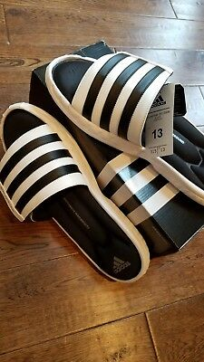 a98447e51867 adidas Performance Mens Superstar 3G Slide Sandal Black and White Size 13