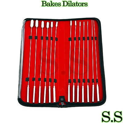 Set Of 13 Pc Bakes ROSEBUD Dilators Urethral Surgical Instruments