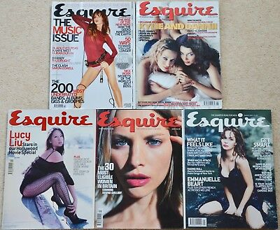 5 x Vintage Esquire Magazines inc. Kylie & Dannni 1999 to 2001 - Great copies!
