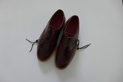 Grenson Archie Chestnut Pull Up Leather Brogue, size UK7 - BNWB, RRP £240
