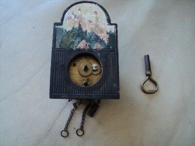 Vintage Small Cuckoo Clock? Movement with a key Untested