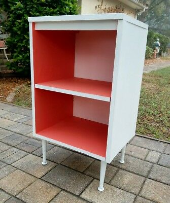 Mid-Century nightstand bookshelf end table bookcase retro boho display vintage