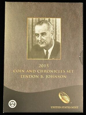 2015 Coin and Chronicles Set. L.B. Johnson. ITEM C63