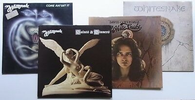 4 LPs: Whitesnake: Come An' Get It + Saints & Sinners + David Coverdale + 1987