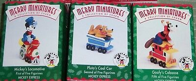 Hallmark MICKEY EXPRESS Ornament Lot of 3