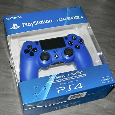 Official PS4 Playstation 4 Sony DualShock 4 Gamepad Controller Wave Blue