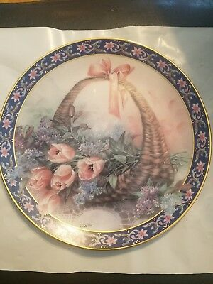 "W.L. George "" Tulips and Lilacs"" collector plate"