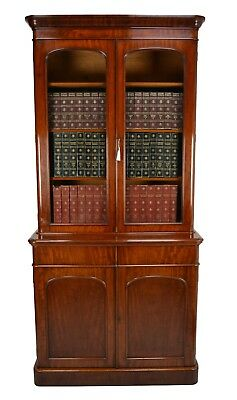 Antique / Victorian Mahogany Library Bookcase Circa 1860