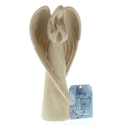 "Wings of Devotion Desert Sand Angel Figurine 9"" Tall Praying Spiritual Statue"