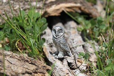 Hastings Pewter Company Lead Free Pewter Owl Figurine Barn Owl Gift bird - NEW