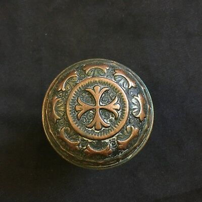 Antique Nashua Cast Bronze Collectible Passage Door Knob 1885's