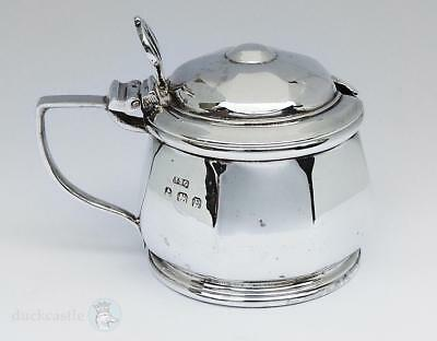 George V STERLING SILVER MUSTARD POT Birmingham 1929 I S Greenberg & Co