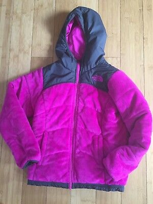 The North Face Pink/Gray Reversible Jacket Girls Size Small (7/8)