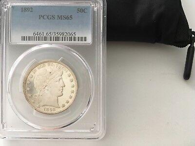 Pcgs 1892 Barber Half Dollar Ms-65