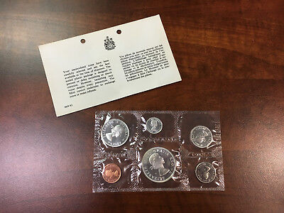 "1964 Canada Mint Set 80% Silver ""Proof Like"" Uncirculated Coin Set w/ COA - NR"