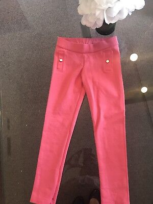 Janie and Jack Girls Pink Riding style Leggings size 7 Orig.$30 NR!!